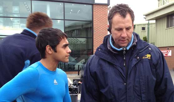 Zubair and new coach Ricky Flynn
