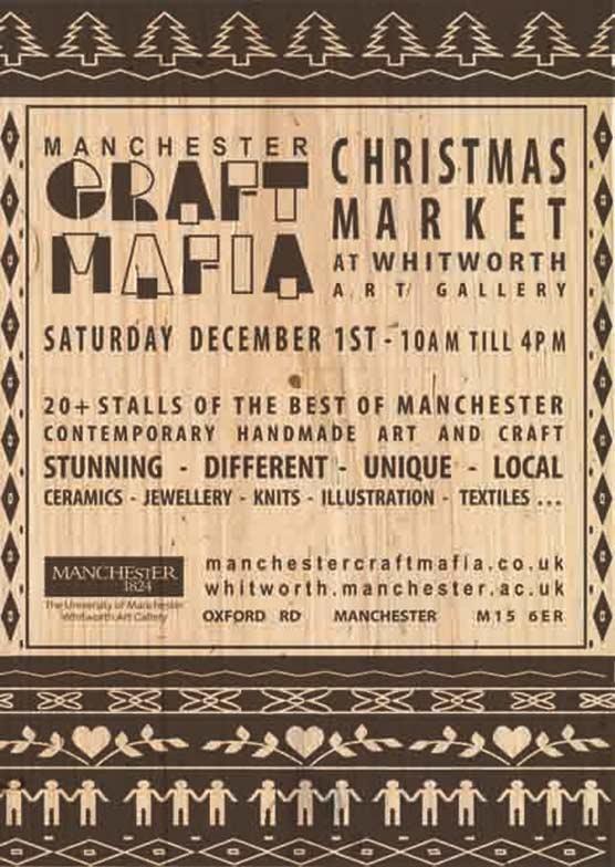 Craft Mafia Christmas market poster