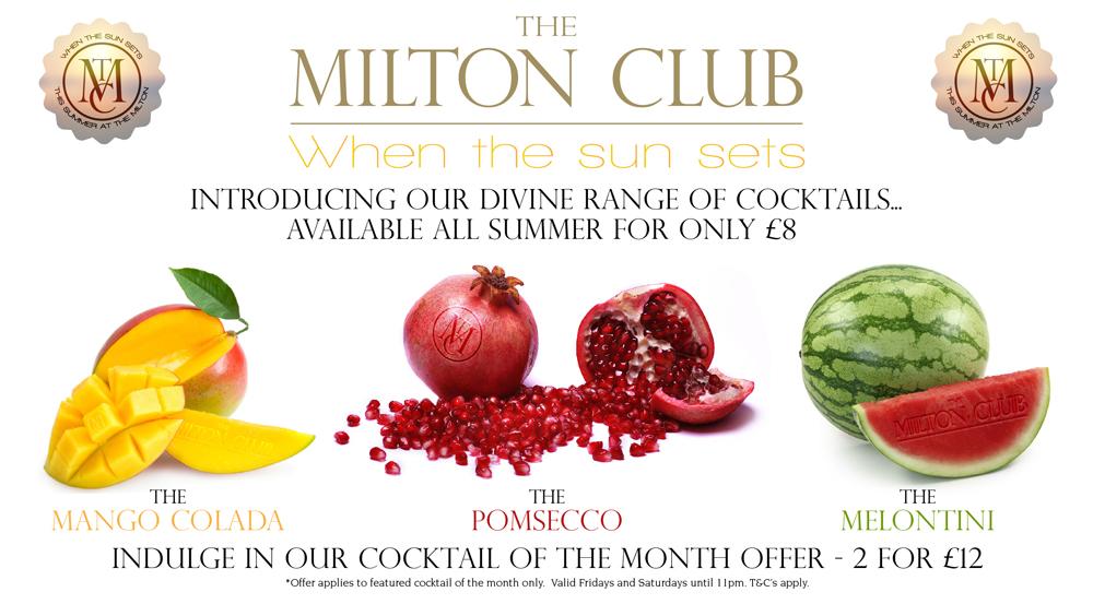 The Milton Club Cocktails