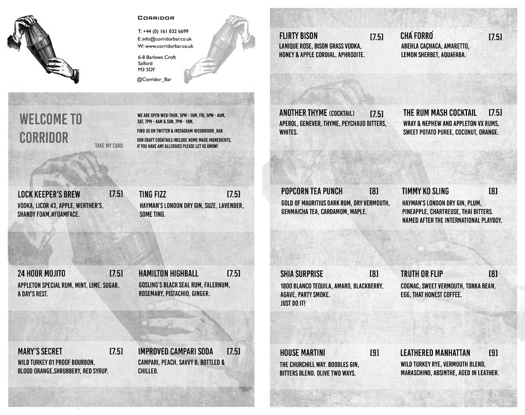corridor-cocktail-menu