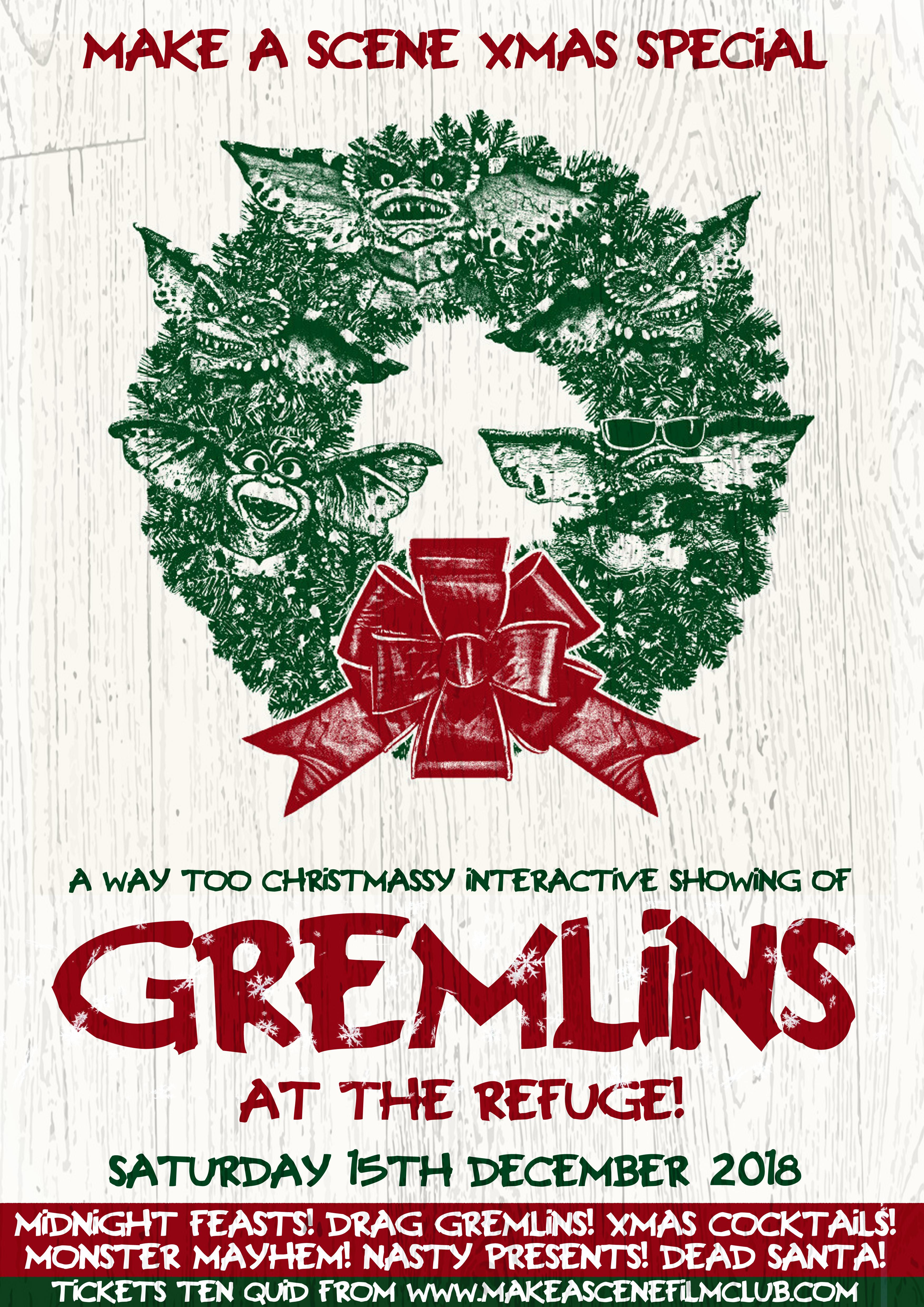 Gremlins Christmas.Special Xmas Interactive Screening Of Gremlins At The Refuge
