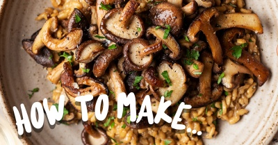 How to make… The Perfect Mushroom Risotto with Simon Wood
