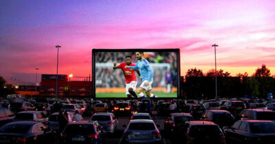 Watch Man Utd & Man City Games in a Drive-In Cinema!