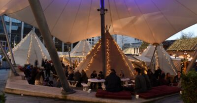 The Festive Teepee Returns to The Oast House and They're Doing 50% off Food