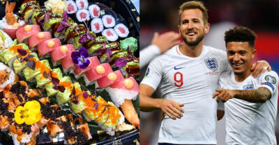 Watch the EUROs with a HUGE Sushi Platter & Teriyaki Tacos