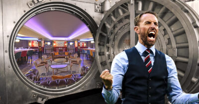 Watch England beat Germany TONIGHT in this old underground Bank Vault!